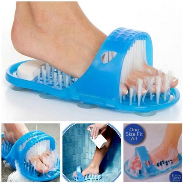 2018 NEW-Easy Cleaning Brush Exfoliating Foot Shower Slippers