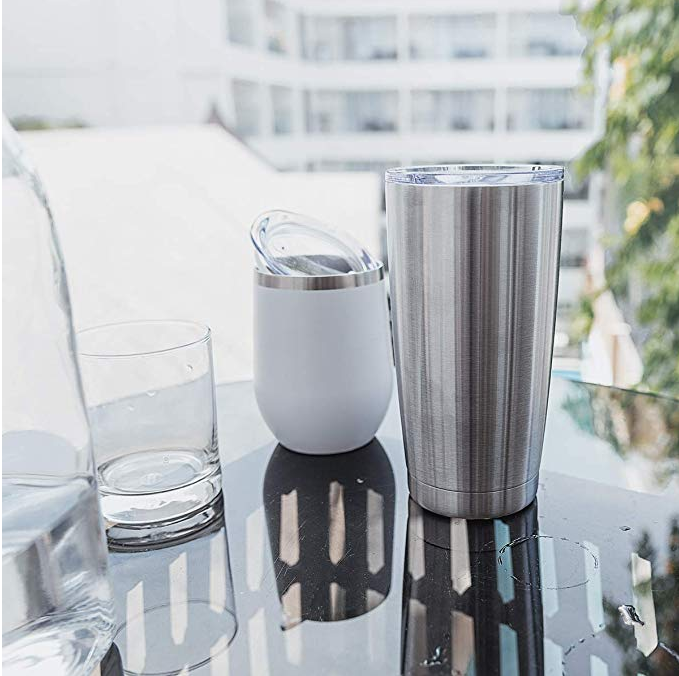 Stainless Steel Vacuum Insulated Tumbler Mug with Built