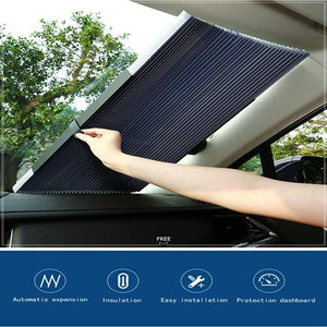 Car sun shade automatic rolling