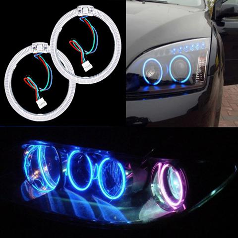 Car headlight modification angel eyes(APP control)