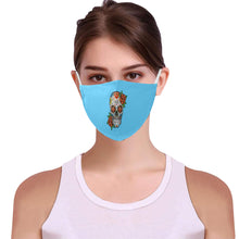 Load image into Gallery viewer, Sugar Skull Cotton Mask Cotton Fabric Dust Cover With Adjustable Strip