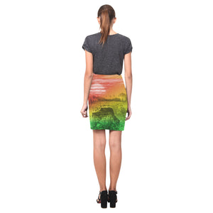 ELEP Rasta Pencil Skirt