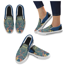 Load image into Gallery viewer, Skele Swizzle Slip Ons Mens