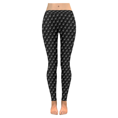 Smoking Skull Pattern Leggings