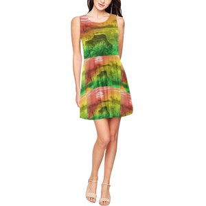ELEP Rasta Checks Skater Dress
