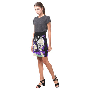 Skull Kiss Mini Skirt
