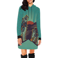 Load image into Gallery viewer, Wolfies Hoodie Dress