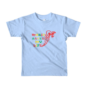 Music Saved My Life Short sleeve kids t-shirt