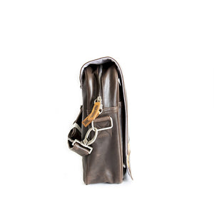 Borsa messenger Lambretta in ecopelle con inserto - marrone - That's Italia