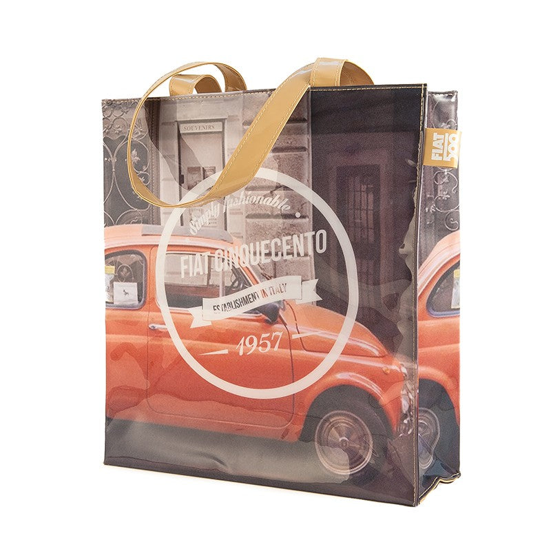 Shopper Fiat 500 in PVC - rossa - That's Italia