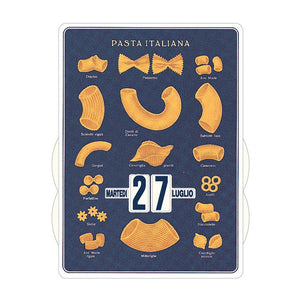 Calendario perpetuo That's Italia - pasta italiana blu