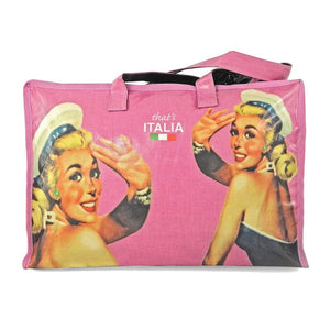 Borsa donna pin up That's Italia - rosa