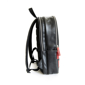 Zaino Lambretta in ecopelle con inserto - nero - That's Italia