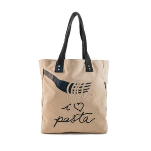 Borsa donna in canvas That's Italia - I Love Pasta