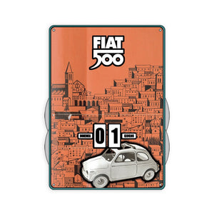 Calendario perpetuo Fiat 500 - bianca - That's Italia
