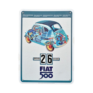 Calendario perpetuo Fiat 500 - spaccato - That's Italia