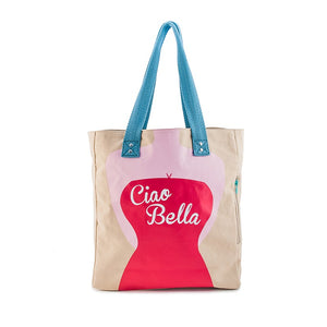Borsa donna in canvas That's Italia - Ciao Bella