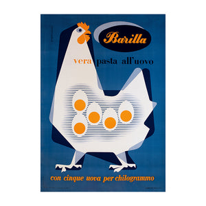 Poster Barilla - vera pasta all'uovo - That's Italia