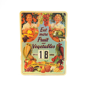 Calendario Perpetuo That's Italia - eat more fruit and vegetables - That's Italia