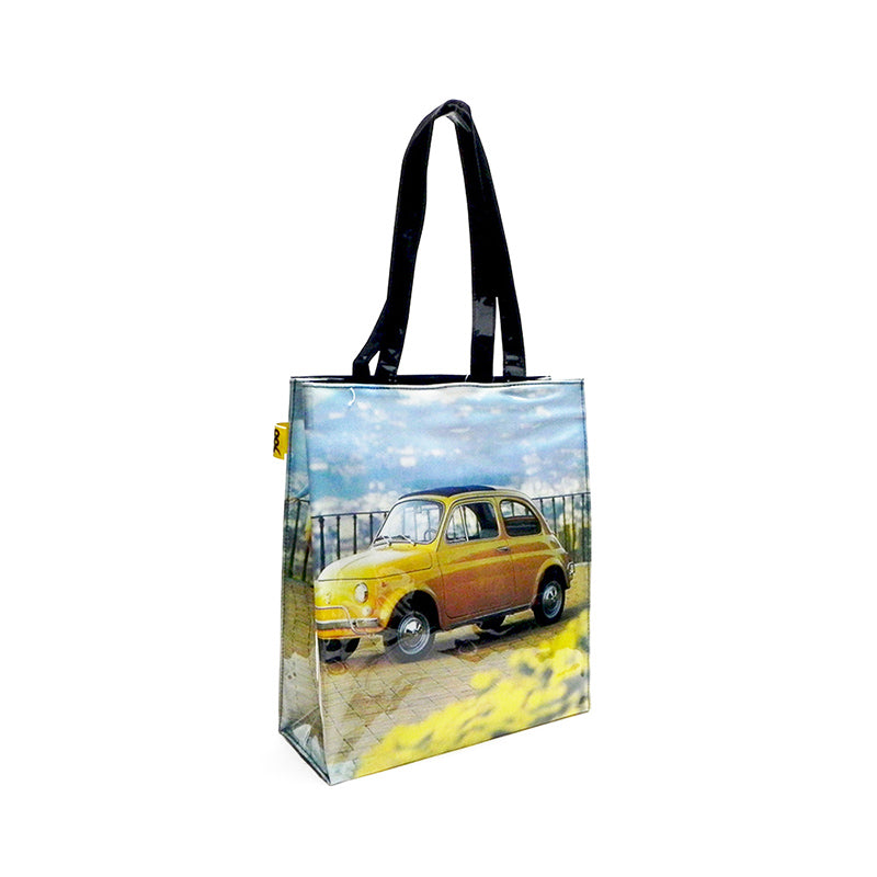 Shopper Fiat 500 in PVC - gialla - That's Italia