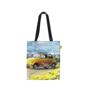 Shopper Fiat 500 in PVC - gialla
