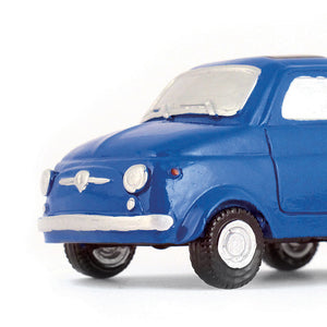 Portafoto in resina Fiat 500 - blu - That's Italia