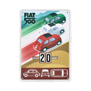 Calendario perpetuo Fiat 500 - tricolore - That's Italia
