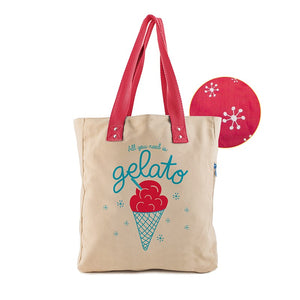 Borsa donna in canvas That's Italia - gelato - That's Italia