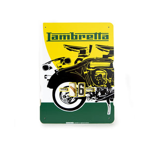 Calendario perpetuo Lambretta - spaccato giallo