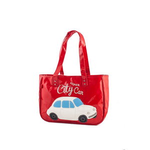 Borsa donna Fiat 500 in pvc - rossa - That's Italia