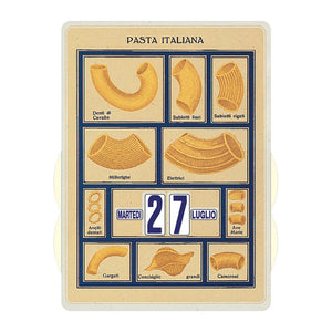 Calendario perpetuo That's Italia - pasta italiana bianca
