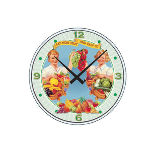 Orologio da parete That's Italia - eat more fruit and vegetables