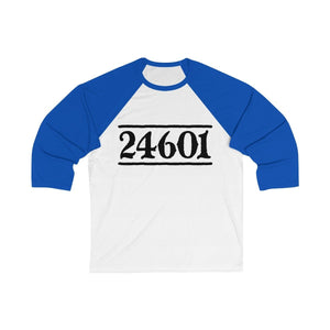 24601 Jean Valjean (Les Miserables) - Unisex 3/4 Sleeve Baseball Tee White/true Royal / S Men Women Long-Sleeve