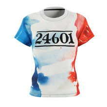 24601 Jean Valjean Shirt (Les Miserables And French Flag) - Womens Tee 4 Oz. / White Seams / L Women All Over Prints