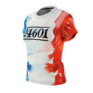 24601 Jean Valjean Shirt (Les Miserables And French Flag) - Womens Tee Women All Over Prints