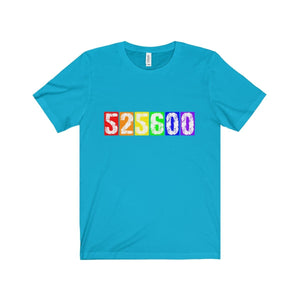 525 600 (Rent) - Unisex Jersey Short Sleeve Tee Turquoise / Xs T-Shirt