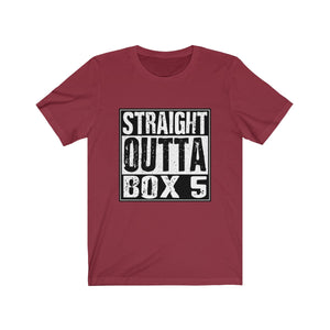 """Straight Outta Box 5"" (Phantom of the Opera) - Unisex Jersey Short Sleeve Tee"