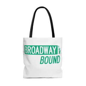 Broadway Bound Street Sign - Tote Bag Bags