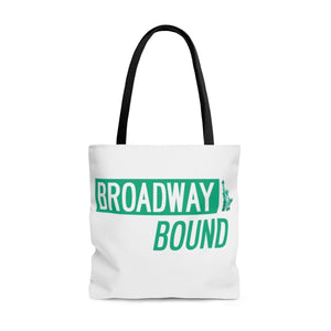 Broadway Bound Street Sign - Tote Bag Large Bags