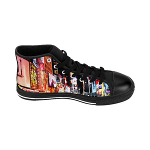 """Broadway"" - Men's High-top Sneakers - Theatre Geek Shirts & Apparel"