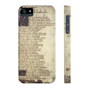 Canterbury Tales - The Knights Tale - Case Mate Slim Phone Cases Iphone 5/5S/5Se
