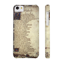 Canterbury Tales - The Knights Tale - Case Mate Slim Phone Cases Iphone 5C