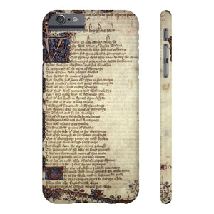Canterbury Tales - The Knights Tale - Case Mate Slim Phone Cases Iphone 6/6S Plus