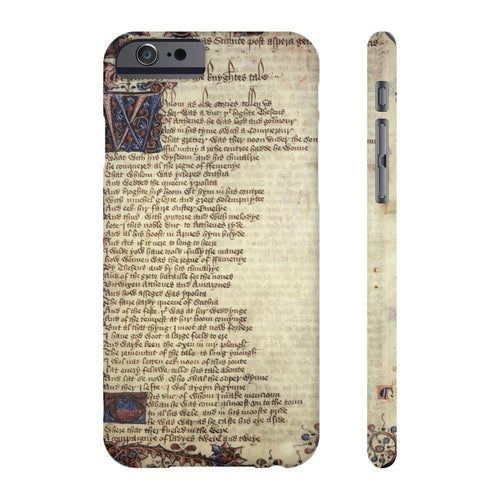 Canterbury Tales - The Knights Tale - Case Mate Slim Phone Cases Iphone 6/6S