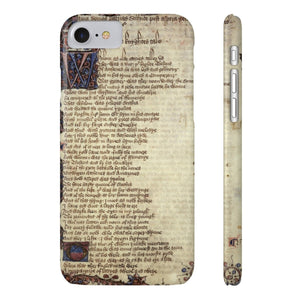 Canterbury Tales - The Knights Tale - Case Mate Slim Phone Cases Iphone 7 8