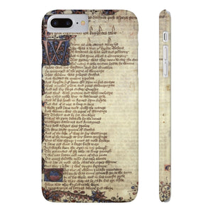 Canterbury Tales - The Knights Tale - Case Mate Slim Phone Cases Iphone 7 Plus 8