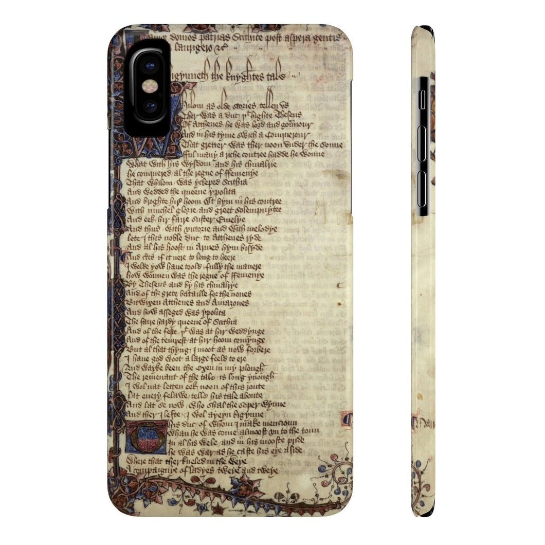 Canterbury Tales - The Knights Tale - Case Mate Slim Phone Cases Iphone X