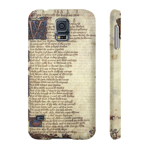 Canterbury Tales - The Knights Tale - Case Mate Slim Phone Cases Samsung Galaxy S5