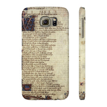 Canterbury Tales - The Knights Tale - Case Mate Slim Phone Cases Samsung Galaxy S6