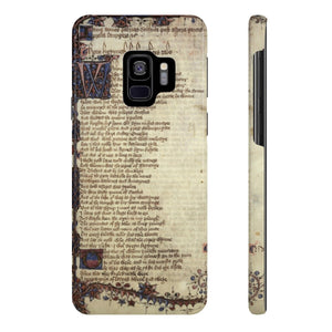 Canterbury Tales - The Knights Tale - Case Mate Slim Phone Cases Samsung Galaxy S9